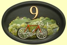 Bicycle door sign