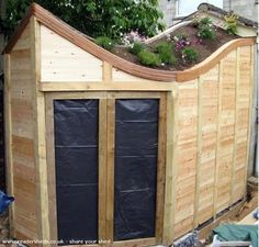 Growing space on top of shed/ garden office to maximize produce