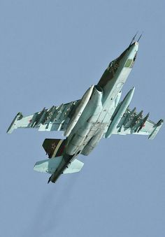 "Sukhoi ""Su-25""'Rook"" (Грач/Grach) (""Frogfoot""). Air Force Aircraft, Fighter Aircraft, Military Jets, Military Weapons, Air Fighter, Fighter Jets, Russian Military Aircraft, Russian Plane, Close Air Support"