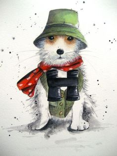 Dog Jack Russell commissions http://michellecampbellart.com