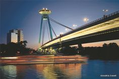 "Most SNP. Previously known as Novy Most (new bridge), and often nicknamed the ""UFO"" bridge, this piece of striking architecture has stood in Bratislava since its completion in 1972."