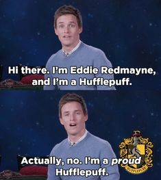 "Hufflepuff PSA <<< My besties are hufflepuffs and they are some of the most interesting people ever so TREAT HOUSSES EQUALLY!!! Slytherins aren't just the ""evil"" house. Ravenclaws are not all stuck up. Not all Gryffindors are mindless show offs."