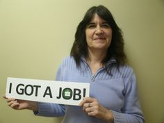 After two years of unemployment, Diane is very excited to have obtained an administrative assistant position.  Congrats Diane!