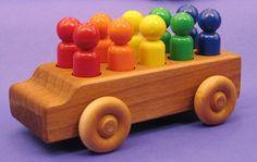 Rainbow People Mover, $25.00, alder & birch, non-toxic paint.