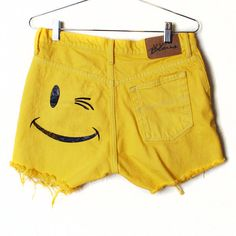 Smile Frayed Denim Shorts  Size 7/8 Express by burgerandfriends. need these.