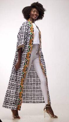 Kente Print kimono cover up / cape / kimono / coverup