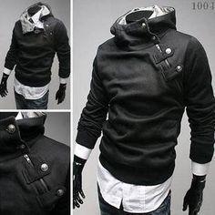 2015 High Collar Men's Sweatshirt Dust Coat Hoodies – eDealRetail