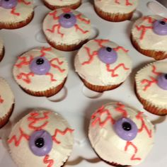 Halloween eyeball cupcakes I made for work.