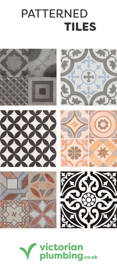 Create dramatic footprint in your home with patchwork style patterned tiles.