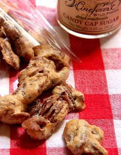 Candy Cap Candied Nuts Recipe made with Wine Forest Wild Foods Wild Nuts and premium dried wild Candy Cap Mushroom Sugar Nut Recipes, Candy Recipes, Candied Walnuts, Pecan, Stuffed Mushrooms, Sugar, Cookies, Vegetables, Desserts