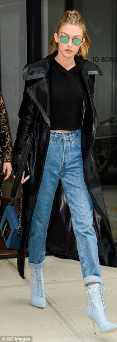 Sister slay: The reflective circular sunglasses Gigi donned were most likely inspired by y...