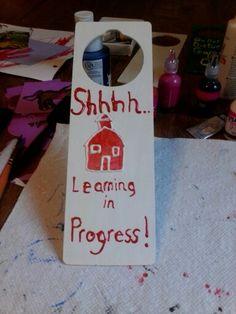 Teachers door hanger.