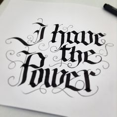 Callygraphic practice stuff by Erik Gonzalez