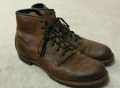Red Wing for J Crew Beckman Boots, Brown, size 10.5D US #JcrewforRedwing #boots