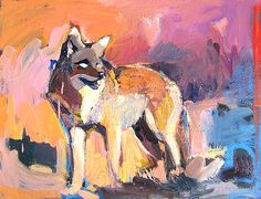 "She Coyote 24"" x 30""by Dana Hooperoil on canvas"