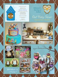 Owl Baby Shower Theme - so many awesome shower ideas here! Come on friends! Keep the babies coming!