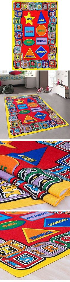 Rugs 154001: Kids Baby Room Daycare Classroom Playroom Area Rug. Abc  Shapes. Gel