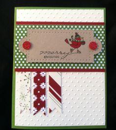 Chick Stamp Magnet: Christmas SAS