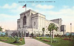 Municipal Auditorium, Long Beach, California Vintage Unused Postcard with Tinted Illustration by planetalissa on Etsy https://www.etsy.com/listing/238094140/municipal-auditorium-long-beach