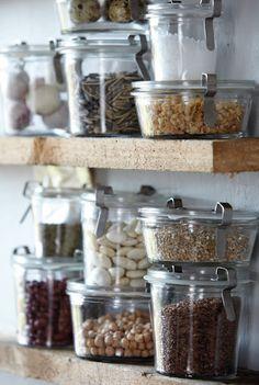 Weck jars. #organization, #jars