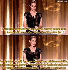 A question to which there is no answer you want to hear. Like her or hate her, I think many of us think this too. Thank you Angelina. Cultura General, Faith In Humanity Restored, Intersectional Feminism, Badass Women, Equal Rights, The Victim, Angelina Jolie, Social Justice, Human Rights