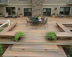Stain on a deck will just persist for a few decades. Patio decks are normally made of wood and wood pallets. The deck has turned into a revered outdoor space of the contemporary American home. If your deck is made… Continue Reading → Backyard Patio Designs, Backyard Landscaping, Backyard House, Backyard Ideas, Backyard Pergola, Landscaping Ideas, Landscaping Edging, Outdoor Pergola, Ground Level Deck
