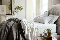 Indulgent comfort so inviting you'll want to climb right into this bed. Source: stearnsandfoster.com