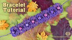Fall Season Flower Bracelet - Macrame Tutorial. Please watch more flower bracelet tutorials below ↓ Wavy Flower Lace Bracelet: http://www.youtube.com/watch?v...