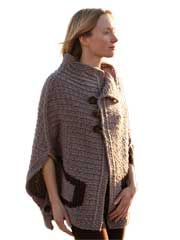 Grand Tour Stole Knit Pattern from Anniescatalog.com -- This is going to be the go-to knitwear outerwear garment you will love to wear from Fall to Spring!