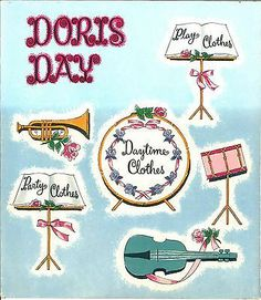 Vintage 1956 Doris Day * 1500 free paper dolls Arielle Gabriel's The International Paper Doll Society #QuanYin5 Twitter QuanYin5 Linked In #ArtrA *