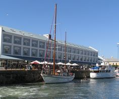 Boats at the Waterfront in Cape Town.