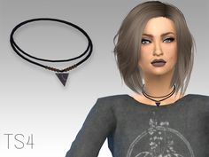The Sims Resource: Marble choker by Grafity Sims • Sims 4 Downloads