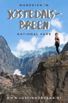 Wandelen in Noorwegen is bijzonder spectaculair. Je kunt bijvoorbeeld naar de Brenndalsbreen gletsjer wandelen in Jostedalsbreen national park en daar de brute krachten van moeder natuur ervaren. Durf jij een vakantie naar Noorwegen aan? #Noorwegen