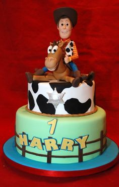 """Toy Story News """"Woody flattens Bullseye! Cumple Toy Story, Festa Toy Story, Toy Story Party, Bolo Toy Story, Toy Story Cakes, Toy Story Birthday Cake, Birthday Cakes, 2nd Birthday, Birthday Ideas"""