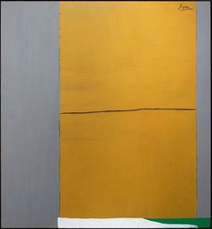 the anarch — Robert Motherwell, Open no. 2: In ochre and grey...