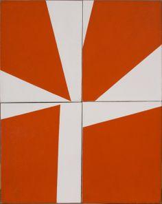 Ralph Coburn - Cross. 1949/50  Oil on four canvas panels