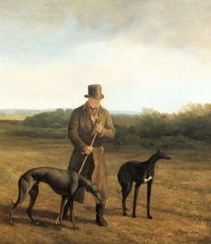 Lord Rivers with Two Greyhounds, painting by Jacques-Laurent Agasse