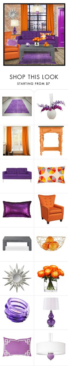 """Orange & Purple"" by missblue1 ❤ liked on Polyvore featuring interior, interiors, interior design, home, home decor, interior decorating, Laura Cole, Stanley Furniture, Somette and Luli"