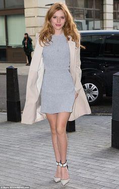 81e21ce3de3 Bella Thorne oozes sophistication in chic grey dress for radio stint. Nick  GrimshawBbc Radio 1Current Fashion TrendsCelebrity ...