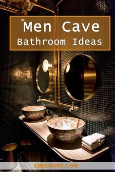 40 Clever Men Cave Bathroom Ideas