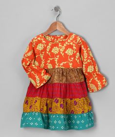 Fall Patchwork Tiered Dress - Infant, Toddler & Girls $32.99
