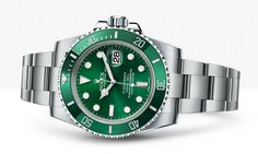Rolex Submariner; $13,400 for stainless steel model; $34,250 for stainless steel and 18k yellow gold model