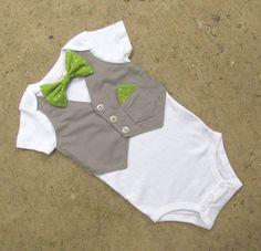 Baby Boy Christmas shirt  Green and Gray Custom by DisarrayDesigns, $28.00