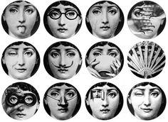La collezione di piatti Temi e variazioni di Piero Fornasetti