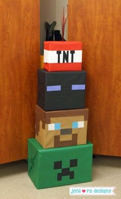 Minecraft Geburtstagsfeier - - New Ideas 9th Birthday Parties, Birthday Party Games, 8th Birthday, Mine Craft Birthday, Mine Craft Party, Birthday Crafts, Minecraft Party Decorations, Birthday Party Decorations, Minecraft Party Ideas