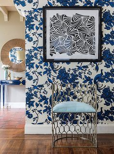 The Iconic Australian Designer You Need to Know About Now Florence Broadhurst's legendary patterns look beyond beautiful in this modern wallpaper print! Modern Wallpaper, Decor, Furnishings, Traditional Furniture, Furniture Styles, White Room Decor, Australian Design, Contemporary Furnishings, Iron Chair