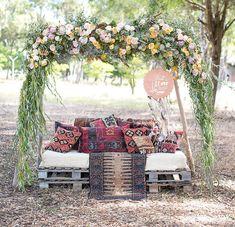 flower arch pillows