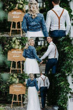 Wir verkaufen personalisierte Bügelfolie für Jeansjacken oder Westen für eure Hochzeit. zB Mr und Mrs mit Datum oder Namen Mehr findet ihr auf unserer Homepage