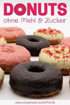 Low Carb Donuts mit Kokosmehl und Erythrit - Staupitopia Zuckerfrei You can bake these low carb donu Diet Desserts, Low Carb Desserts, Dessert Recipes, Keto Cookies, Keto Foods, Quick Keto Breakfast, Breakfast Recipes, Breakfast Snacks, Breakfast Ideas