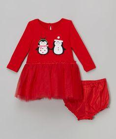 Look what I found on #zulily! Marmellata Red Penguin Tutu Dress - Infant, Toddler & Girls by Marmellata #zulilyfinds